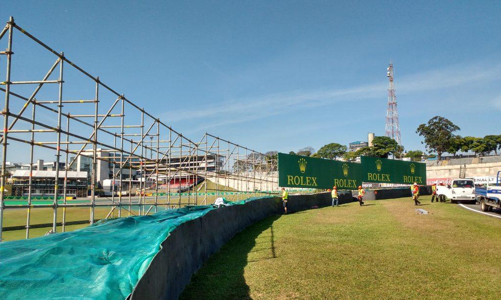 TB ESTRUTURAS - Autódromo de Interlagos, São Paulo - Andaimes Multidirecionais p/ Placas Publicitárias